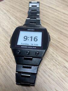 Seiko Radiowave Control solar e-ink digital watch S770-0AA0 R2 w/ box, papers