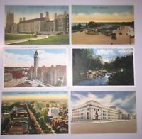 GREAT LOT OF 6 TORONTO, ONTARIO, CANADA VINTAGE POSTCARDS   *DE-443*