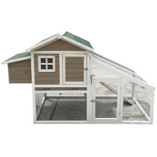 Xlarge Chicken Coop 190cm Hen house Chook Hutch Run Cage with Pitch Roof T058