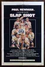 SLAP SHOT 1977 Paul Newman Sports Comedy Hockey Action ORIGINAL MOVIE POSTER VG+