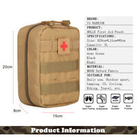 MOLLE First Aid Pouch Medic Pouch Tactical Medical Bag Outdoor Sport Utility Bag