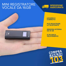 MINI REGISTRATORE USB DIGITALE 16 GB VOCALE E TELEFONICO SPIA CON VOX MICROFONO