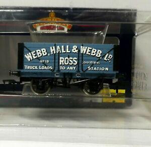 Bachmann 37-105A 7 Plank Wagon WEBB,HALL & WEBB 19 blue BNIB (j)