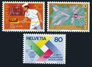 Switzerland 757-759,MNH.Michel 1301-1303. 1985.Swiss Master Bakers,Radio,Postal