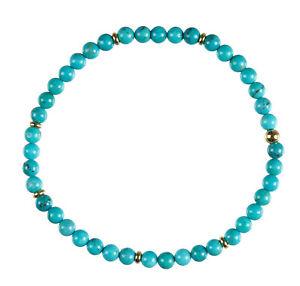 Arizona Türkis Edelstein-Armband Stretch Perlenarmband D153