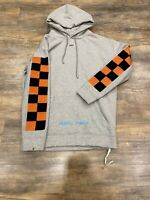 Authentic Off-White Checkered Hoodie Men's Small Virgil Abloh Seeing Things Gray