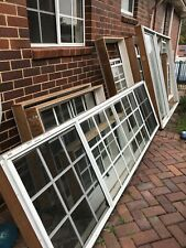 white windows and slide doors - used