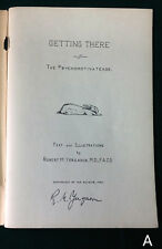 RARE SIGNED 1943 Getting There Dr Robert Yergason Zoology Poem Psychomotivatease