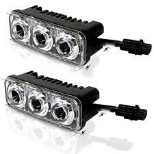 2X 3 LED Super White High Power Car DRL Daytime Running Light Fog Lamp Universal