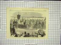 Original Old Antique Print Meeting National Rifle Wimbledon