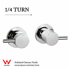 1/4 Turn Round Hot And Cold Tap Pair Wall Set For Bathroom Shower Vanity Spout