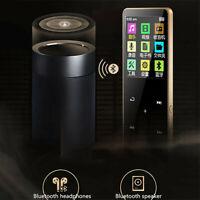 16GB Bluetooth MP3 Player MP4 Media FM Radio Recorder Sport Music Speakers Lcd