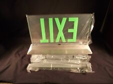 LED Edge lit green Exit sign. High end architectural. ISOLITE Eltacg2mbarcuc USA