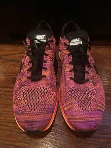 """Nike Flyknit Racer """"Acai Berry"""" Size 9 Red Orange Purple Hyper 526628008"""