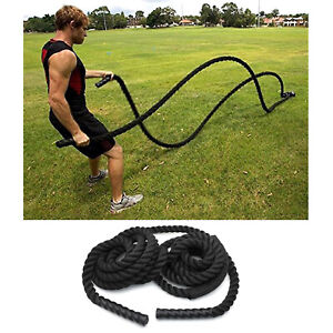"1.5""/30ft Exercise Training Battle Rope Strength Cardio Workout Fitness Exercise"