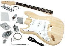 Solo Strat Style DIY Guitar Kit Left Handed, Basswood Body, Rosewood FB, STK-1L
