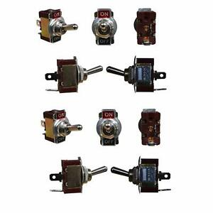 Toggle On Off Switch Set of 10 Pcs 10 AMP 250v with 6 Screw Terminals Universal