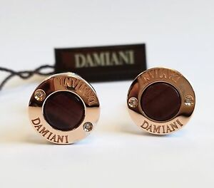 Damiani Sterling Silver 18k White And Rose Gold Plated Men's Cufflinks $2,000