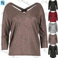 Unbranded Polyester V Neck 3/4 Sleeve T-Shirts for Women
