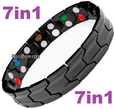 7in1 TITANIUM strong Magnetic Energy Armband Power Bracelet Bio GERMANIUM 69881