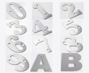 """1x 2"""" 50mm Stainless Steel Screw-on Number 0-9 or Letter A-B Door House Plate"""