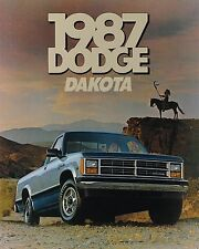 Big 1987 Dodge DAKOTA PickUp Truck Brochure w/Color Chart: PROSPECTOR,SE,LE,4x4,