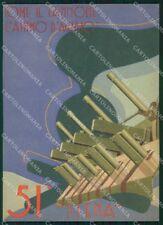 Militari 51º Reggimento Artiglieria Siena Boeri FG cartolina XF7330