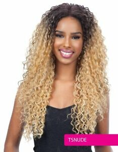 FreeTress Equal Premium Delux Lace Front Wig Long Curly Synthetic Hair - TALIA