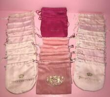 Juicy Couture Lot of 27 Draw string Gift Pouches Misc Assortment Great for gifts