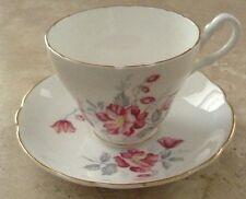 Vintage Royal Ascot Tea Cup & Saucer Set Bone China Gold Scalloped Edge England