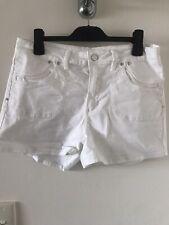 Witchery Women's White Denim High Waisted Shorts Size 12