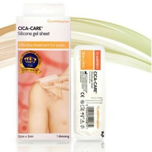 Cica-Care Silicone Gel Sheet Scar Treatment 12 x 3 cm NEW + Free Shipping
