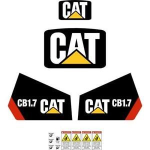CAT CB1.7 Decals - Repro CB1.7 Stickers Kit decal set