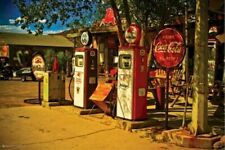 ROUTE 66 ~ MOBIL GAS PEGASUS ~ 24x36 POSTER COCA COLA Fifties Travel Station