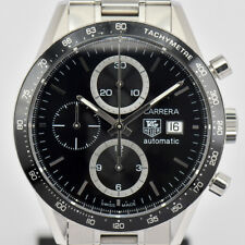 Auth TAG Heuer Carrera CV2010 Chronograph Tachmetre Automatic Mens Watch J#75609