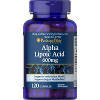 Puritan's Pride Alpha Lipoic Acid 600 mg - 120 Capsules