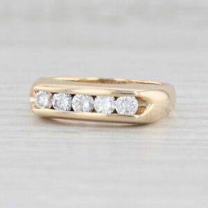 0.75ctw Diamond Wedding Band 14k Yellow Gold Size 9.5 Men's Ring