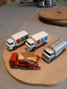 Corgi Juniors job lot x4, Leyland x3, Ford D-Series