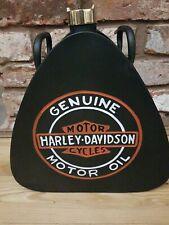 Vintage HARLEY DAVISDON Reproduction Decorative triangle Jerry Can Brass Cap