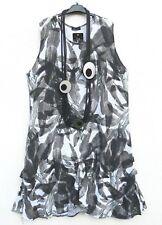 NEU SARAH SANTOS Sommerkleid Leinen Kleid Linen Dress Robe XXL 52 54 Lagenlook