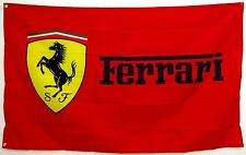 Ferrari Flag Banner 3x5 ft Italy Man Cave Car Racing Manufacturer Red Plus Gift