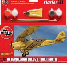 Airfix - De Havilland DH.82a Tiger Falena Modello Kit 1:72 + Colla Pennello