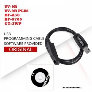 Original Baofeng UV-9R Series BF-A58 BF-9700 GT-3WP USB Programming Cable + CD