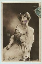 Suzanne Mieris Actress Edwardian Theater Stage Reutlinger Real Photo Postcard