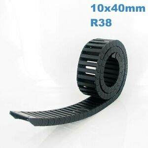 10x40mm R38 Nylon Energy Drag Chain Cable Wire Carrier CNC Router 3D Printer Mil