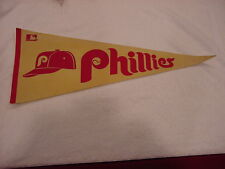 VINTAGE 1960's Philadelphia Phillies Full Size 29 Inch Pennant, VERY NICE!
