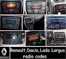 RENAULT RADIO UNLOCK CODE DECODE CLIO MEGANE SCENIC TRAFIC LAGUNA