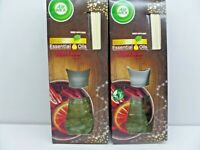Air Wick Essential Oils Mulled Wine Fragrance Reed Diffuser Air Freshener 2x30ml