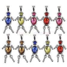 Alloy Diamante Mini People Figure Pattern Jewelry DIY Pendant Charms 10Pcs