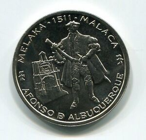 Portugal 1995 200 Escudos Unc Afonso D Albuquerque Melaka 1511 Malaca Coin